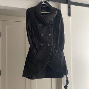 Mackage Leather/Nylon Short Trench